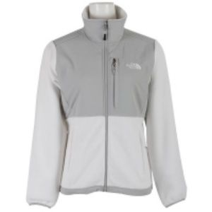 North Face Denali Fleece White/High Rise Grey